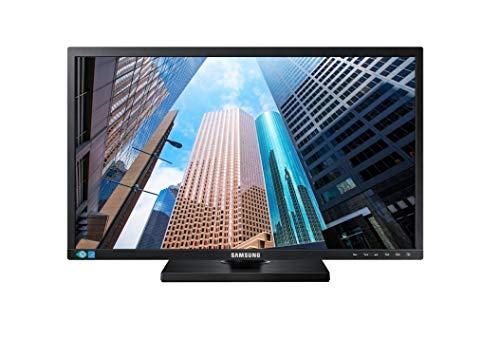 """Samsung Monitor S22E450M Monitor Professionale 24"""" Full HD, 1920 x 1080, 60 Hz, 5 ms, D-Sub, DVI, con Casse Integrate, Regolabile in Altezza, Swivel, Pivot, Nero"""