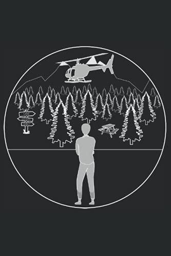 RC Helikopter Journal: 120 leere linierte Seiten für deine Ideen und Notizen