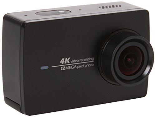 YI 4K Wi-Fi HD 2.19 Pulgadas LCD DVR Set 2 Cámara de acción Deportiva con Palo Selfie y Mando a Distancia Bluetooth, Color Negro