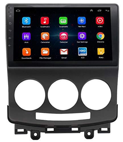 WYFWYT Für Mazda 5 2005-2010 Android Autoradio Radio Navigation Unterhaltung Multimedia 9 Zoll HD 1024 * 600 Unterstützung Google/Lenkrad/GPS/WiFi/Bluetooth/SWC