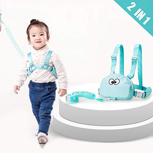 Lehoo Castle Imbracatura di Sicurezza per Bambini, Anti Perso Cinturino Cintura, Imbracature e guinzagli per bambini piccoli di sicurezza (Verde menta)