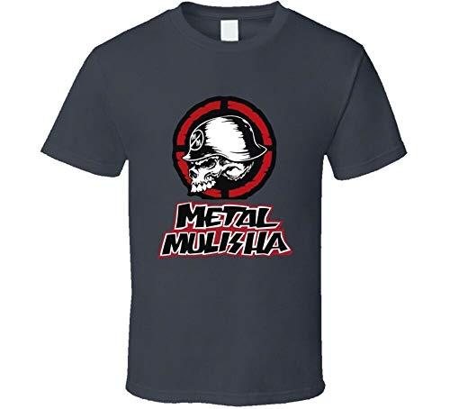 Metal Mulisha Motocross Dirtbike Enduro Hare Scramble Rennen BMX T Shirt Graphic Top Printed Tee Mens Shirt Dark Grey M