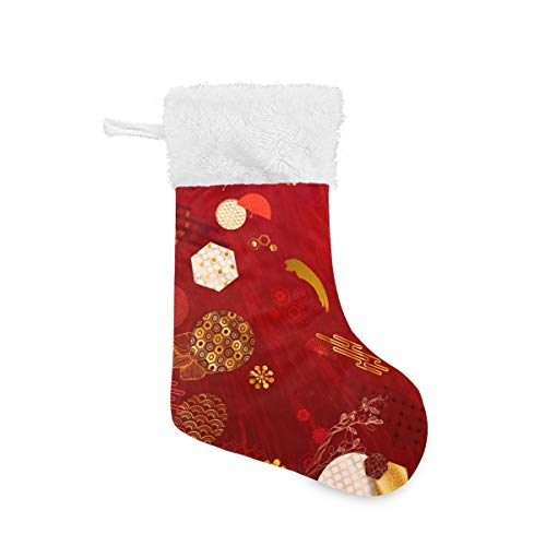 VVIEER Large Christmas Stockings Personalized 1 Pack for Family Holiday Party Decorations - Ornament with Flowers