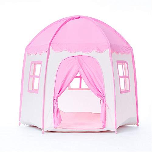 XUZg-wFence XZGang Rosa Yurt Jugar con Tiendas de campaña, Cubierta del Castillo de la Princesa niña Hexagonal Carpa Casa dormitorios con Capacidad Tienda Rincón de Lectura Playhouse Espacio Infantil