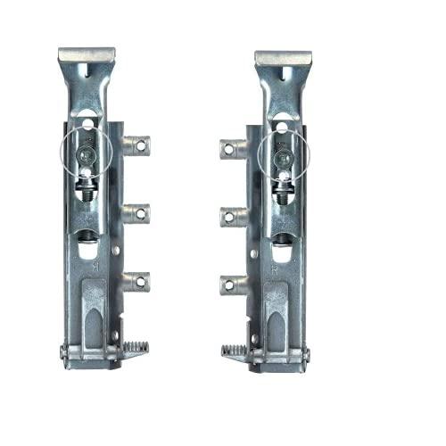 Par de ganchos de fijación ajustables invisibles para muebles suspendidos DIN 68840 + kit para pared