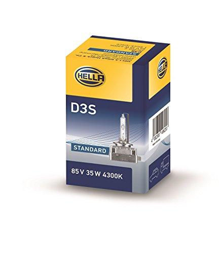 HELLA 8GS 009 028-311 Glühlampe Standard D3S, Xenon Gasentladungslampe für Hauptscheinwerfer, 35 W, 12/24V