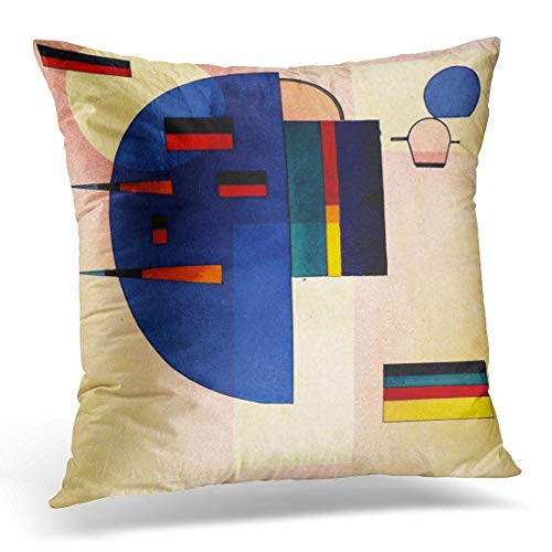 LongTrade 4 Größen Kissenbezug Throw Pillow Cover Vintage Wassily Kandinsky Calmed Abstract Decorative Pillow Case Home Decor Square Pillowcase