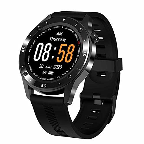XHJL Reloj de Fitness,Relojes Inteligentes, rastreadores de Actividad del sueño, Monitor de frecuencia cardíaca IP68 Impermeable Reloj Inteligente Digital de 1,54 Pulgadas para Mujeres y Hombres