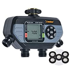 4 high flow valves to water Multiple areas. Each valve works like a separate timer with up to 4 selectable start times. Easily select specific days of the week or every few days. Bundle includes 1 HydroLogic 4-Zone Digital Water Timer and 5 Extra Sta...
