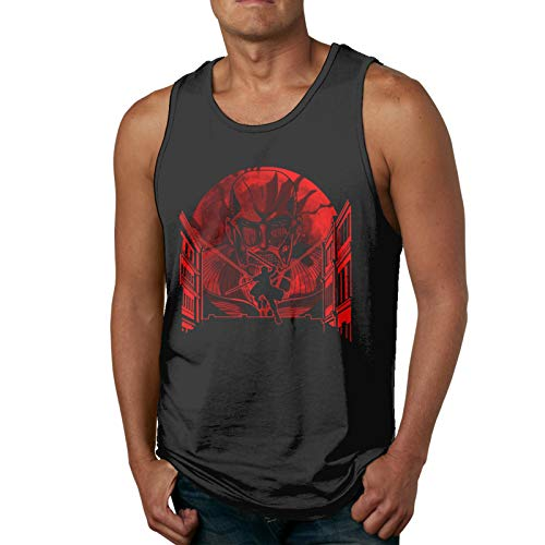 Yerolor Attack On Titan That Day Muscle Gym Workout Sleeveless Shirt Tank Tops for Men
