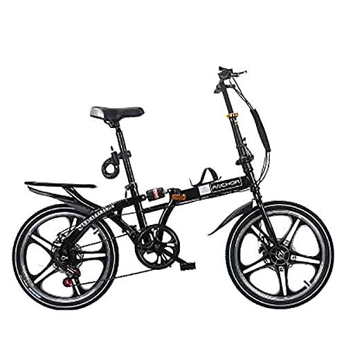 ZHANGYN Bicicleta Plegable, Adecuada Para Todos, Bicicleta De Giro Plegable, Longitud Del Cuerpo 155 Cm, Caja De Cambios De 21 Velocidades Con Ruedas Grandes, Bicicleta De La Ciudad Fáci(Color:blanco)