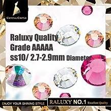 ASTONISH Crystal Castle Light Peach Atractivas Elegantes Brautglasperlen Flatback Strass-Kristall Hotfix Rhinestones para Hochzeitskleid: SS10 1440pcs