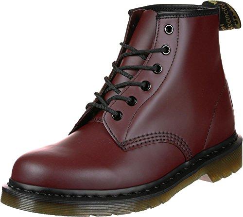 Dr. Martens 101 PW Smooth Unisex-Erwachsene Stiefel & Stiefeletten Rot - Rouge (Cherry Red), 44 EU