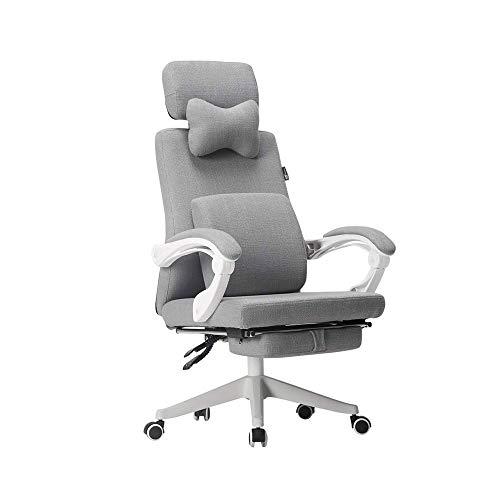 TXOZ-Q Ergonómico sillón reclinable Oficina - Silla de Escritorio Respaldo Alto con Soporte Lumbar Asiento Regulable en Altura, Headrest- Transpirable Volver - Suave Almohadilla de Espuma del Asiento