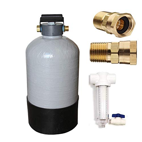 Portable Water Softener Great for use with RV's! Include Inline T Sand Separator for Sediment Removal (16,000 Grains)