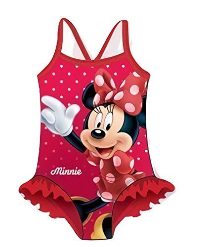 Minnie Maillot De Bain Disney, Maillot de Bain Fille Une pièce (6 Ans, Rouge)