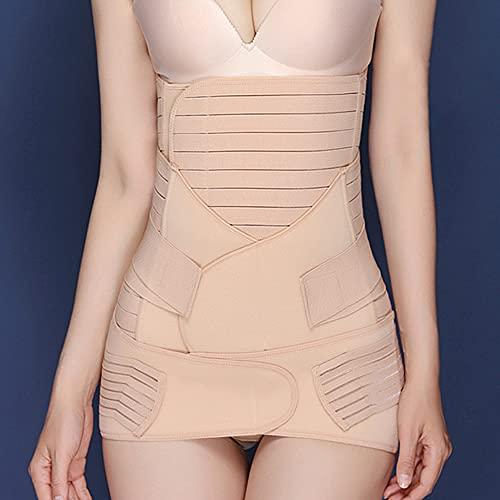 conpoir Cinturones moldeadores de Cuerpo 3 en 1 Recuperación posparto Soporte de Cintura Belly Pelvis Belt Belly Wrap para Mujeres