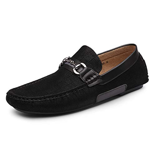 Bruno Marc Men's Santoni-03 Black Penny Loafers Moccasins Shoes Size 9 M US