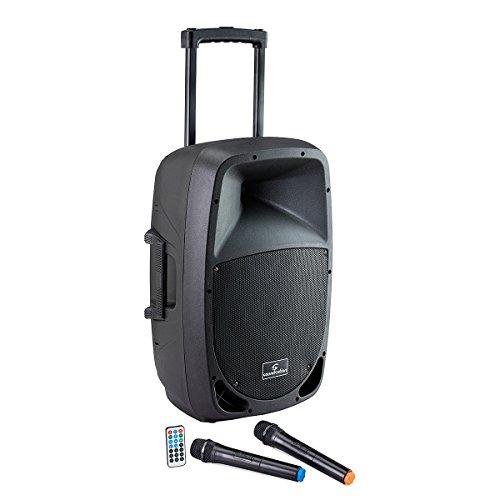 SOUNDSATION - Cassa Attiva 15 a Batteria con Trolley e lettore MP3 Bluetooth