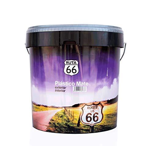 Pintura Plastica Mate Ruta 66 - Exterio, color Blanco (13 L.)