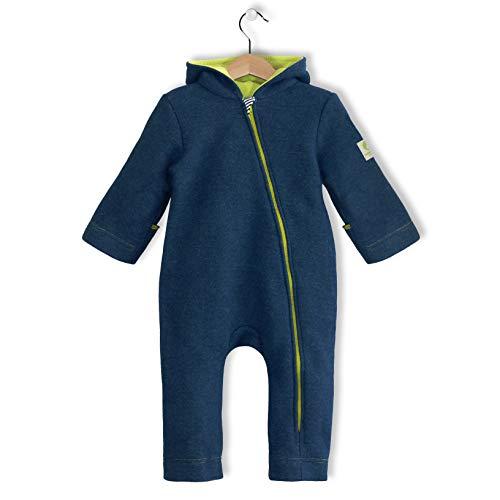 bubble.kid berlin Anu Overall Einteiler Herbst Winter Anzug Walkwolle Wolle (86-92, marine)