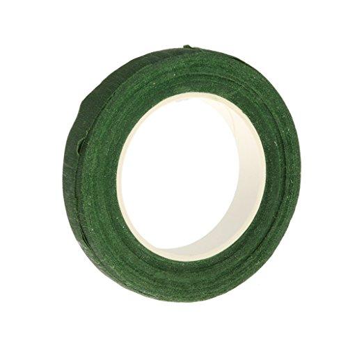 Rouleau de Ruban Adhésif en Papier Floral Artificielle pour Diy Bricolage 30m - Vert, M