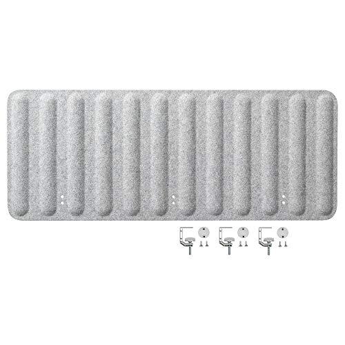 EILIF Paravent für Schreibtisch 48x120 cm grau