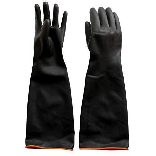 Naturgummilatex Handschuh, Eiito Industrie Anti Chemische Säure Alkali Gummihandschuhe 55cm-22inch