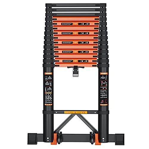 SDHENAILIAN Escalera telescópica portátil de aleación de aluminio plegable portátil Extensión extensible escalera recta escalera capacidad de carga 350 libras (tamaño: 3,9 m)