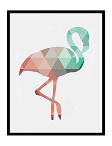 Géométrique corail Animaux Toile Art Impressions Affiches Cerf Tête Girafe Ours Flamant Modèle Abstrait Giclées Impression de photos murales Décoration d'intérieur pas de cadre PTGM002-XL