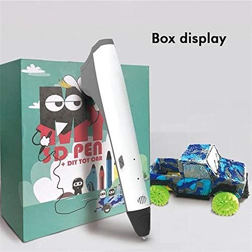 ZHQHYQHHX 3D Pen Car DIY Gift Box met stuk speelgoed auto accessoires 3D Printing Pen 3D Printer ZHQEUR (Color : SL M1 WHITE, Size : Free)