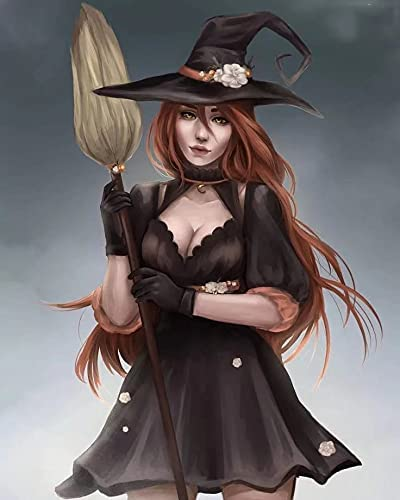 Some reservation 5D DIY Diamond Painting Kits Halloween Art Limited time trial price Girl Portrait