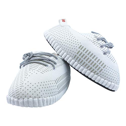 SoleSlip Sneaker Slippers Men and Women Comfy and Cozy Perfect for Lounging Pure Polyester One Size Fits All Trendy Design
