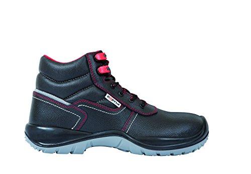 Exena 1126626124438 Calzado de protección laboral, Negro, 43
