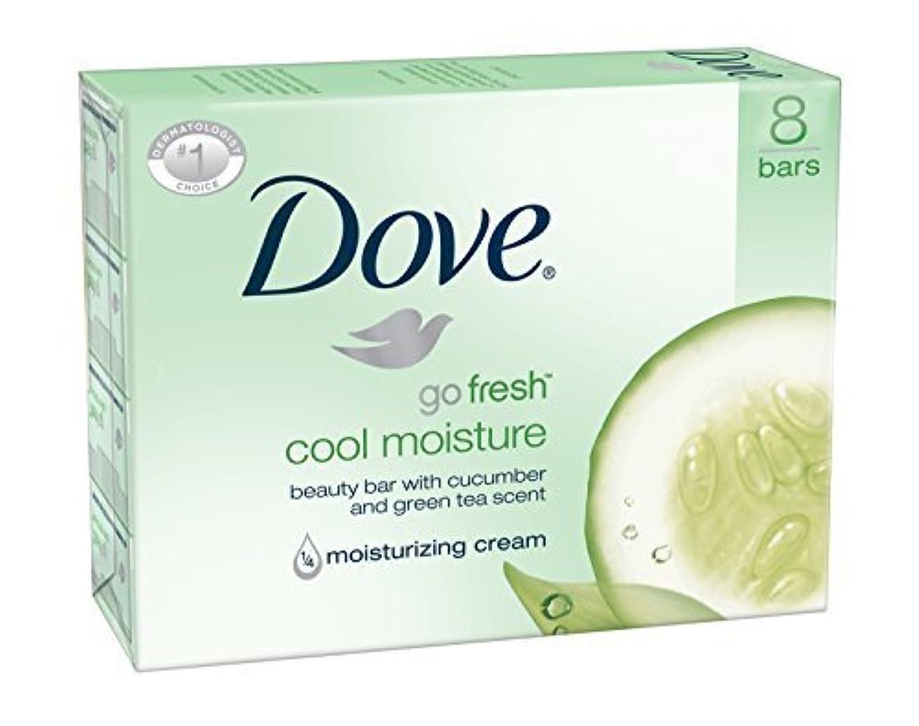 代理人生まれ自然Dove Bar Soap, Cool Moisture, 16 Count [並行輸入品]