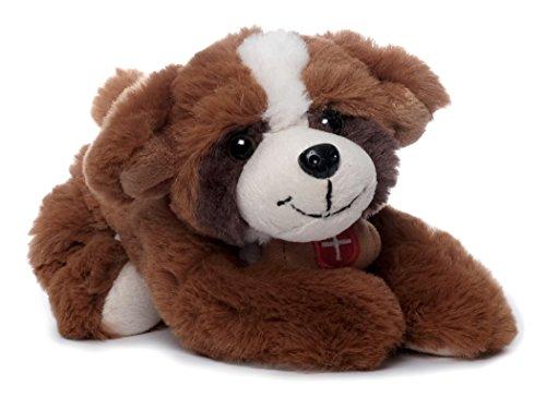 Inware 7568 - Kuscheltier Bernhardiner, braun, 24 cm, Hund