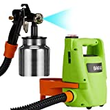 Stazione Spray Pistola a Spruzzo Professionale per Nebulizzare o Verniciare Casa Compressore Potenza 550W Flusso Regolabile con Contenitore Pittura o altro da 1000 ml e Test Viscosità Vernice
