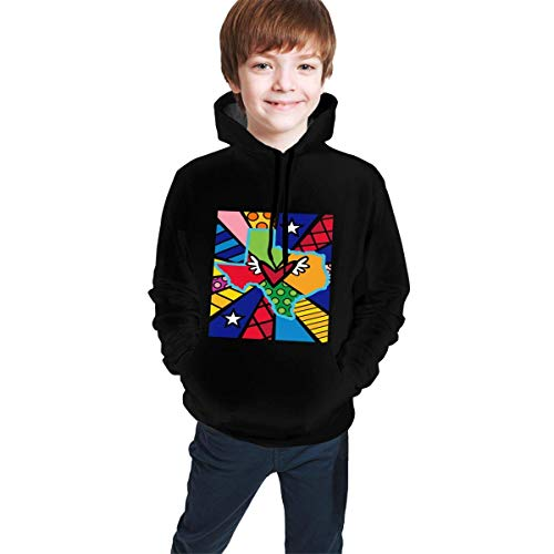 Hidend Kinder Kapuzenpullover Sweatshirt, Texas-Britto Fashion Youth Hoodies 3D Print Hooded Pullover Unique Sweatshirts Hoody for Boys Girls