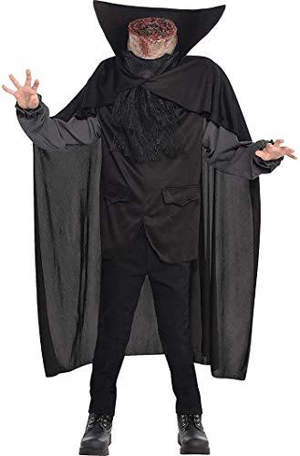 amscan- Costume da uomo, senza testa, 845680-55, 12-14 anni