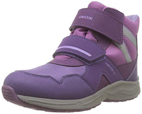 Geox Mädchen J KURAY Girl B ABX B Schneestiefel, Violett (Dk Purple C8016), 36 EU