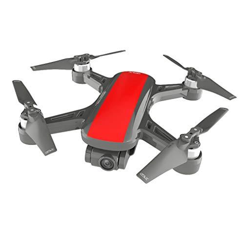 HSKB Drohne mit Kamera, C-Fly Dream 120°Weitwinkel 1080P HD Kamera, GPS / Optischer Fluss 5G WiFi FPV RC Quadrocopter, App-Steuerung, One Key Start/Landung, Headless Modus mit Rucksack (Rot)