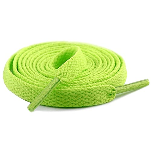1 par de cordones planos gruesos zapatos anchos cordones cordones cordones unisex cordones para botas y zapatos 60 Cm/90 Cm/100 Cm/120 Cm/150 Cm