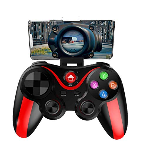 Mobile Controller for The Most Games, Mobile Gamepad Wireless Game Controller Joystick for Android/iOS/iPhone/iPad, Key Mapping, Shooting Fighting Racing Game-NO Supporting iOS 13.4 (RED-Black)