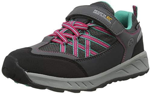 Regatta Samaris V Low' Waterproof Breathable Breathable Hoop & Loop Fastening Lightweight Walking Shoes, Chaussure de marche mixte enfant, Gris (Granit / Noir), 28 EU