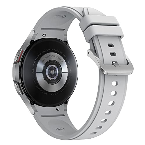 Samsung Galaxy Watch4 Classic 42mm SmartWatch Acciaio Inox, Ghiera Rotante, Monitoraggio Benessere, Fitness Tracker, Silver 2021 [Versione Italiana]