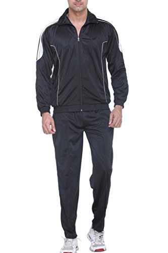 Warm Up - Men's Polyester Track Suit (Black - M Size)