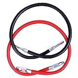 CARTMAN 4AWG 24-Inch Battery Inverter Cables Set, 4Gauge x 24' (1 Black & 1 Red)