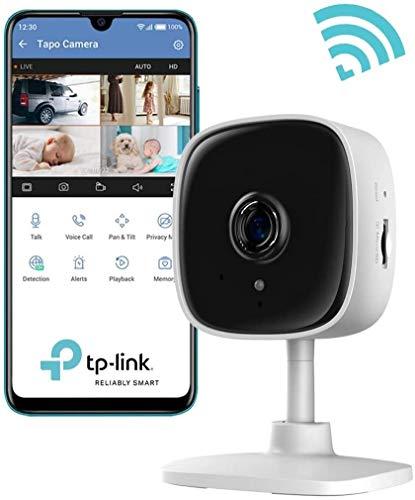 ZHENG Cámara de Seguridad Wi-Fi, cámara inalámbrica IP Tapo 1080P con la visión Nocturna de detección de Movimiento, Alarma de Seguridad Modo, la cámara del bebé con Audio bidireccional Pan/Tilt Gir