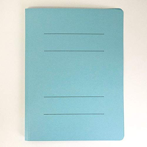 フラットファイル 紙製 A4サイズ用 ブルー 3冊入