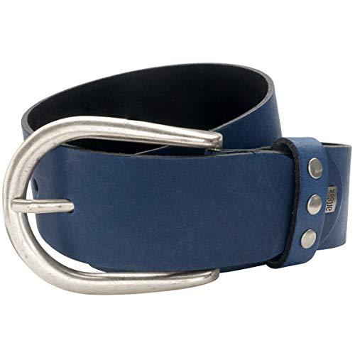 LINDENMANN The Art of Belt Ledergürtel Damen/Gürtel Damen, Rindledergürtel, blau, Größe/Size:100, Farbe/Color:blau